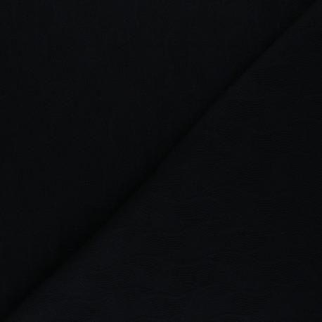 Tissu Mind the Maker jersey jacquard Leaf - noir x 10 cm