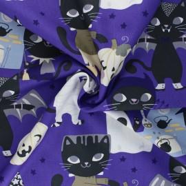 Tissu coton Alexander Henry Costume kitty - violet x 10cm