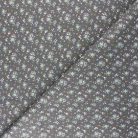 Tissu coton cretonne Flomi - gris x 10cm