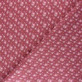 Cretonne cotton fabric - amaranth Flomi x 10cm