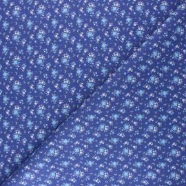 Tissu coton cretonne Flomi - bleu x 10cm