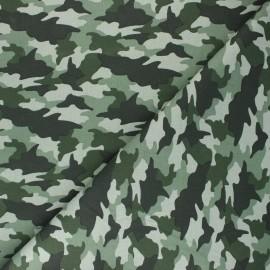 Cretonne cotton fabric - green Army x 10cm