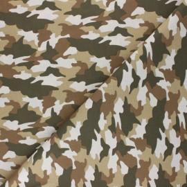 Tissu coton cretonne Army - beige x 10cm
