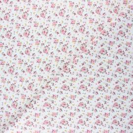 Cretonne cotton fabric - pink/white Fledi x 10cm