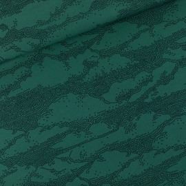 See you at six french terry fabric - Bistro green Clouds x 10 cm