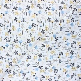 Cretonne Cotton fabric - white Après l'hiver x 10cm