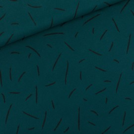 See you at six french terry fabric - Ponderosa green x 10 cm