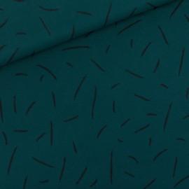 Tissu See you at six sweat léger - vert Ponderosa x 10cm