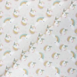 Cretonne cotton fabric - grège Lily x 10cm