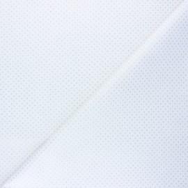 Tissu coton cretonne Pisani - blanc x 10cm