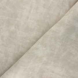 Matte Leather Imitation fabric - beige Clifton x 10cm