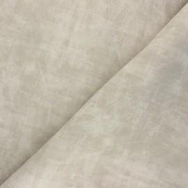 Matte Leather Imitation fabric - beige Clifton x 10cm