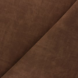 Matte Leather Imitation fabric - brown Clifton x 10cm