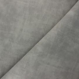 Matte Leather Imitation fabric - light grey Clifton x 10cm
