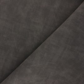Matte Leather Imitation fabric - dark taupe Clifton x 10cm
