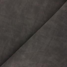 Matte Leather Imitation fabric - dark taupe Clifton x 10cm