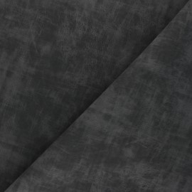 Matte Leather Imitation fabric - anthracite grey Clifton x 10cm