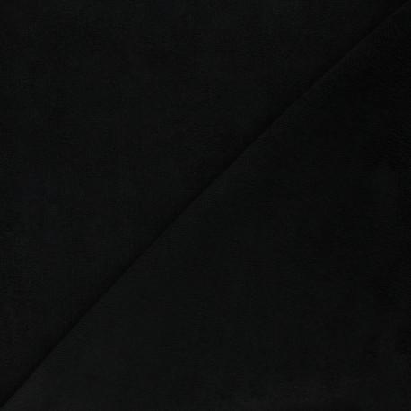Tissu micro-éponge bambou Soft - noir x 10cm