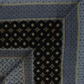 Tissu jacquard Dubaï - jaune  x 42cm