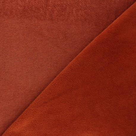 Tissu micro-éponge bambou Soft - roux x 10cm