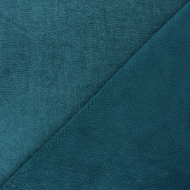 Micro bamboo towel fabric - peacock blue Soft x 10cm