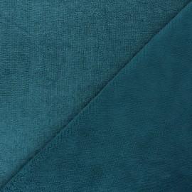 Tissu micro-éponge bambou Soft - bleu paon x 10cm
