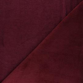 Tissu micro-éponge bambou Soft - amarante x 10cm