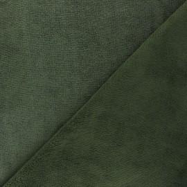 Tissu micro-éponge bambou Soft - vert kaki x 10cm