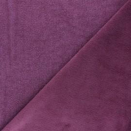 Tissu micro-éponge bambou Soft - figue x 10cm