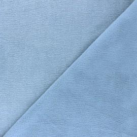 Tissu micro-éponge bambou Soft - bleuet x 10cm