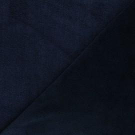 Tissu micro-éponge bambou Soft - bleu nuit x 10cm