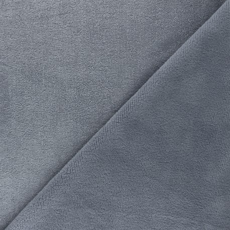 Tissu micro-éponge bambou Soft - gris x 10cm