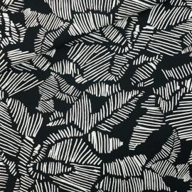 Tissu See you at six toile de coton Winter rose - noir x 10cm