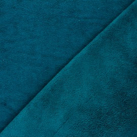 Bamboo micro towel fabric - duck blue Caresse x 10cm
