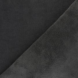 Tissu micro-éponge bambou Caresse - gris anthracite x 10cm