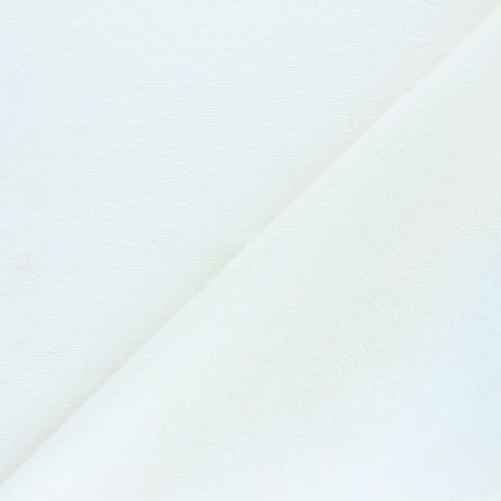 Tissu micro-éponge bambou Caresse - écru x 10cm