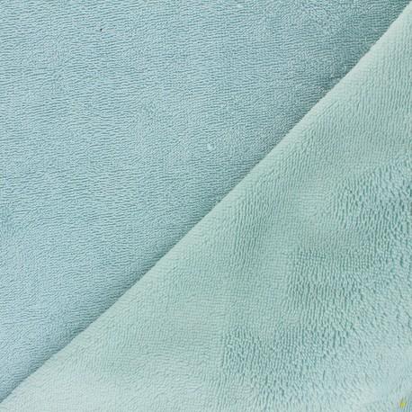 Tissu micro-éponge bambou Caresse - opaline x 10cm