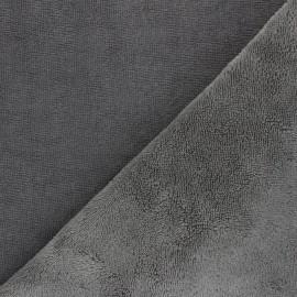 Bamboo micro towel fabric - grey Caresse x 10cm
