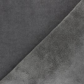 Tissu micro-éponge bambou Caresse - gris x 10cm