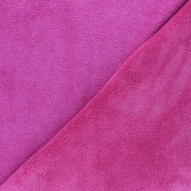 Bamboo micro towel fabric - fuchsia Caresse x 10cm