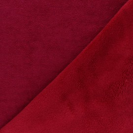 Bamboo micro towel fabric - passion red Caresse x 10cm