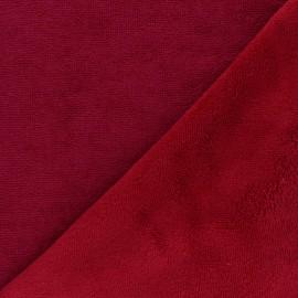 Tissu micro-éponge bambou Caresse - rouge passion x 10cm