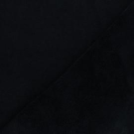 Tissu micro-éponge bambou Caresse - noir x 10cm