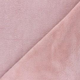 Tissu micro-éponge bambou Caresse - rose clair x 10cm
