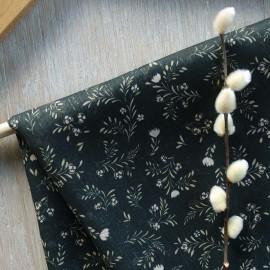 Atelier 27 Lurex muslin fabric - dark green Marais x 50cm