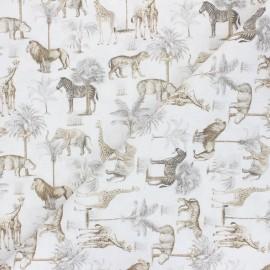 Tissu coton Safari - beige  x 10cm