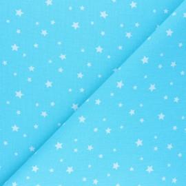 Tissu coton cretonne Scarlet - bleu ciel x 10cm