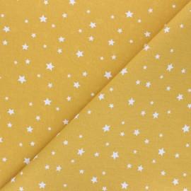Tissu coton cretonne Scarlet - jaune moutarde x 10cm