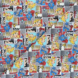 Tissu coton Superheroes comic - multicolore x 10cm