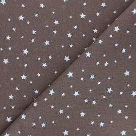 Tissu coton cretonne Scarlet - cacao x 10cm